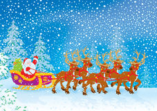 Сани Santa Claus бесплатная иллюстрация