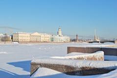 Санкт-Петербург в зиме Стоковая Фотография