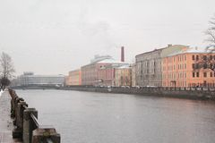 Санкт-Петербург город на реке Neva Стоковое фото RF
