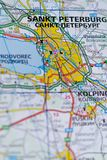 Санкт-Петербург на карте Стоковые Изображения RF