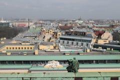 Санкт-Петербург Россия Взгляд от вершины StIsaak Стоковые Изображения RF