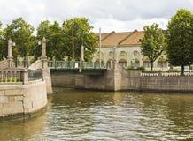 Санкт-Петербург, мост Krasnogvardeyskiy стоковая фотография
