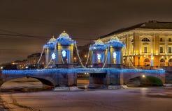 Санкт-Петербург Россия Мост Lomonosov Стоковое Изображение RF