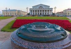 САНКТ-ПЕТЕРБУРГ, РОССИЯ - 25-ОЕ ИЮЛЯ 2014: Бронзовая масштабная модель  Стоковая Фотография