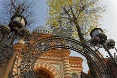САНКТ-ПЕТЕРБУРГ, РОССИЯ - 17-ОЕ ОКТЯБРЯ 2017: Грандиозная хоровая синагога Санкт-Петербурга, России Стоковые Фото