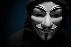 Санкт-Петербург, Россия - 16-ое сентября 2016: Фото маски вендетты человека нося Стоковая Фотография