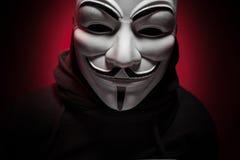 Санкт-Петербург, Россия - 16-ое сентября 2016: Фото маски вендетты человека нося Стоковое Фото