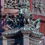 Санкт-Петербург, Россия - 24-ое сентября 2017: Часть оформления памятника к Николасу i Стоковые Изображения