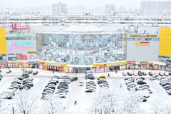 САНКТ-ПЕТЕРБУРГ, РОССИЯ - 18-ОЕ ЯНВАРЯ 2016: взгляд зимы от th Стоковая Фотография RF