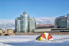 Санкт-Петербург Россия Самомоднейшее селитебное здание Стоковая Фотография