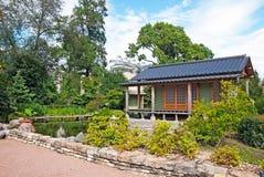 Санкт-Петербург Россия Японские сад и чайный домик стоковая фотография