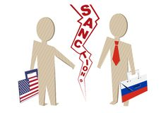 Санкции США против России Стоковые Фотографии RF