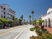 Санта-Барбара, Калифорния, США: центральные побережье, пляж Тихого океана, турист и назначение курорта стоковые изображения rf