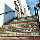 Санта-Барбара крыла лестницу черепицей Стоковые Изображения RF