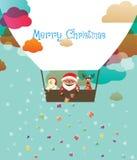 Санта в воздушном шаре Стоковые Фотографии RF