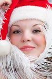 Санта-девушка Стоковые Изображения