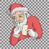 Санта держит секрет стоковая фотография rf