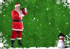 Санта играя скрипку Стоковая Фотография