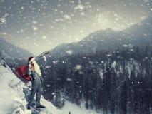 Санта ища путь Мультимедиа Стоковые Фотографии RF