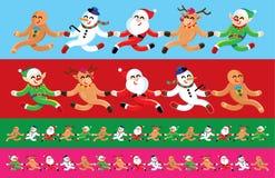 Санта и изображение друзей безшовное Стоковые Фото