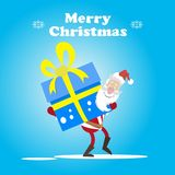 Санта и крупно-большая коробка Стоковые Изображения RF
