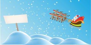 Санта и северный олень Стоковые Изображения