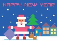 Санта Клаус и собака Стоковые Фотографии RF
