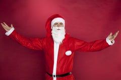 Санта Клаус показывает большой палец руки вверх стоковое фото rf