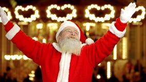 Санта Клаус показывать, рождество справедливо сток-видео