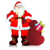 Санта Клаус, предпосылка рождества иллюстрация вектора