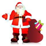 Санта Клаус, предпосылка рождества бесплатная иллюстрация