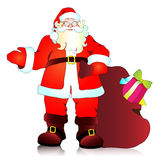 Санта Клаус, предпосылка рождества Стоковое Фото