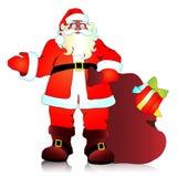 Санта Клаус, предпосылка рождества Стоковая Фотография