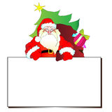 Санта Клаус, предпосылка рождества Стоковое Изображение