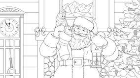 Санта Клаус принес подарки иллюстрация штока