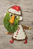 Санта Клаус сделал как декоративный сандвич на борту Стоковая Фотография RF