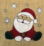 Санта Клаус смотрит вне для рождества стоковые фотографии rf