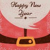 Санта Клаус, счастливый Новый Год - иллюстрация шаржа иллюстрация вектора