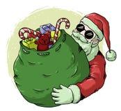 Санта Клаус с дизайном вектора подарка иллюстрация вектора