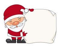 Санта Клаус с пергаментом иллюстрация штока
