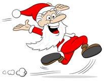Санта Клаус бежит Стоковые Фото