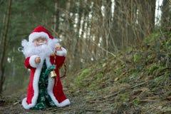 Санта Клаус в лесе стоковое изображение
