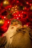 Санта Клаус здесь, и нося настоящие моменты Стоковое фото RF