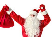 Санта Клаус изолировал на белизне Стоковые Изображения RF