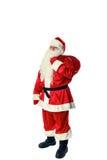 Санта Клаус изолировал на белизне Стоковые Фотографии RF