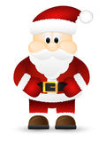 Санта Клаус изолировал на белой предпосылке. Стоковое Изображение