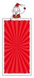 Санта Клаус и вертикальное знамя Стоковые Фото