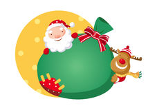 Санта Клаус и Рудольф Стоковые Фото
