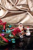 Санта Клаус и снеговик Стоковое Изображение RF