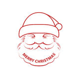 Санта Клаус и с Рождеством Христовым бесплатная иллюстрация